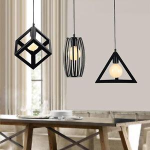 Kitchen Pendant Light Bedroom Ceiling Light Bar Lamp Black ...
