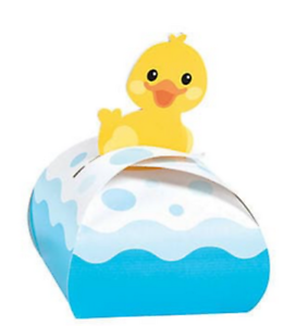 Pack of 12 Rubber Ducky Favor Boxes Party Bag Fillers Gift Box