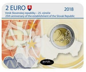 Coincard-2-euros-BU-SLOVAQUIE-2018-Creation-de-la-Republique-Slovaque-BU