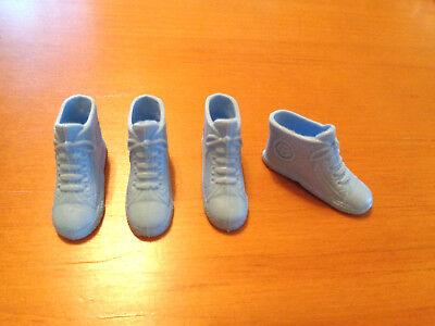 2 Pair Vintage Mattel Barbie Slim Foot Flats Shoes Light Medium Blue NEW