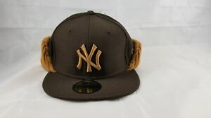 a995c3f0f5a58 NEW ERA 59FIFTY FITTED HAT WITH FLIP DOWN. MLB. NEW YORK YANKEES ...