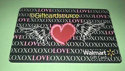 WALMART US GIFT CARD PEANUTS SNOOPY Valentine's Day Hearts XO 2020 NO VALUE NEW