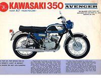 1968 Kawasaki Avenger 350 A7 Motorcycle Sales Brochure, (reprint) $6.00