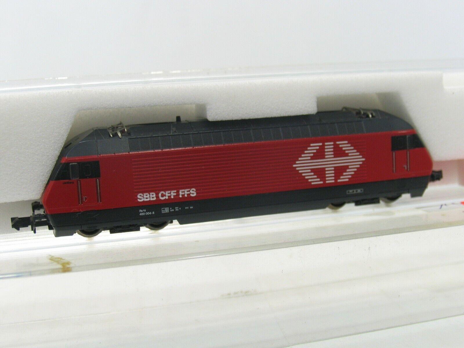 Kato 13709-3 e-Lok br 460 004-5 rojo de los SBB nh199