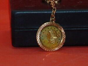 Pre-Owned-Vintage-1776-Replica-Twenty-Dollar-Gold-Color-Key-Chain