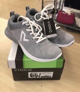 29e72aec9b070 Vionic Orthotic Adley 6W Lace-up Flat Knit Sneakers - DAMAGED BOX   eBay