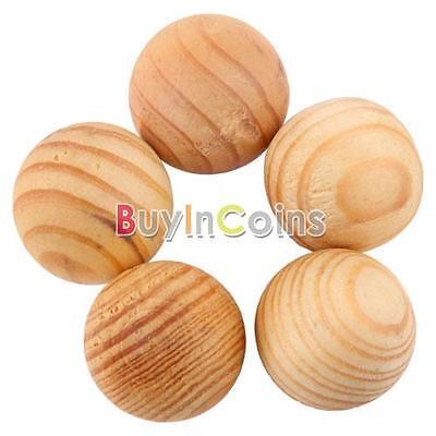 50Pcs Fragrant Moth Balls Cedar Wood Protection Camphor Insect Control HYUK