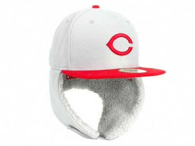 Cincinnati Reds Dogear Down Ear Flap MLB Cooperstown 2-Tone 5950 Fitted Hat Cap