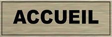 Plaque de porte aluminium brossé Signalétique de porte- ACCUEIL