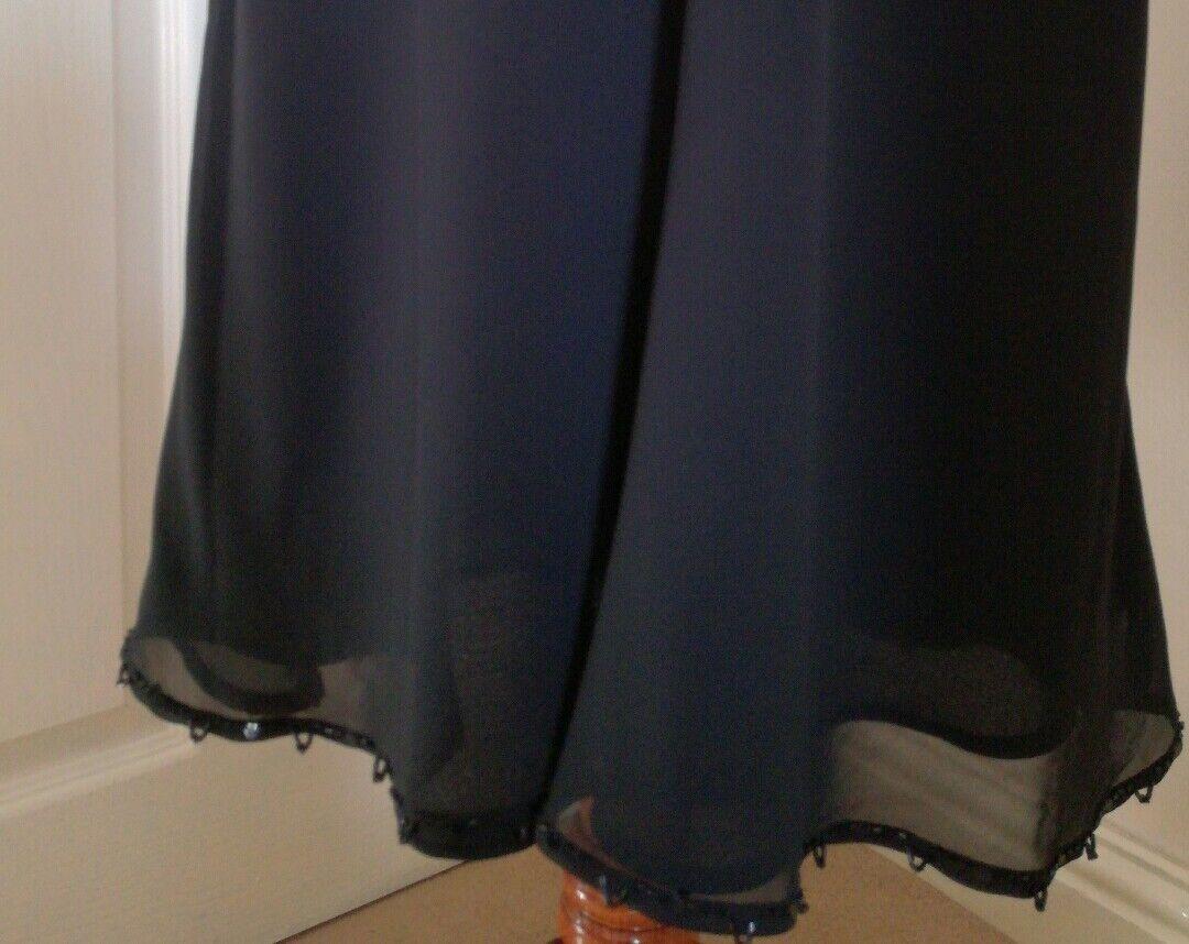 Coast Nero Classico V collo e sulla sulla sulla parte posteriore con Perline VESTITO NUOVO SENZA ETICHETTE FR36 UK8 favoloso  064fc0
