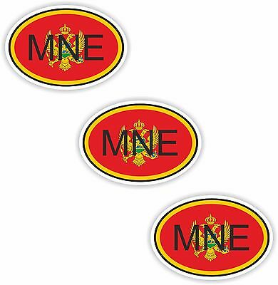 3x Oval Flag Stickers Wales Small Country Code Laptop Smartphone Case