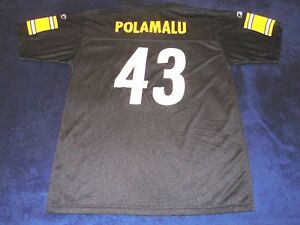 c38b08e97 Image is loading Pittsburgh-Steelers-Polamalu-43-NFL-Jersey-Reebok-Team-