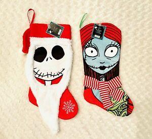 NWT Disney Nightmare Before Christmas Jack And Sally Christmas Stockings