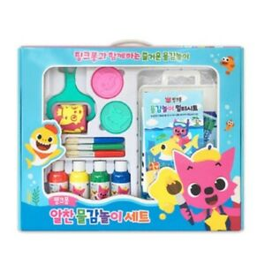 Pinkfong Shark Family Melody Paint Stamp Play Toy Set For Baby Infant Kids
