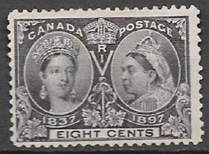 Canada 1897 Diamond Jubilee 8c dark violet Scott 56 original gum hinged see scan