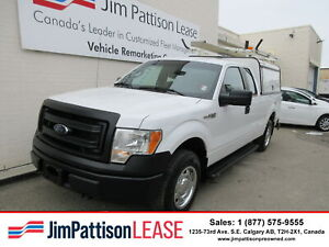 2014 Ford F 150 XL 5.0L 4X4 Ext. Cab w/Contractor Canopy & Rack