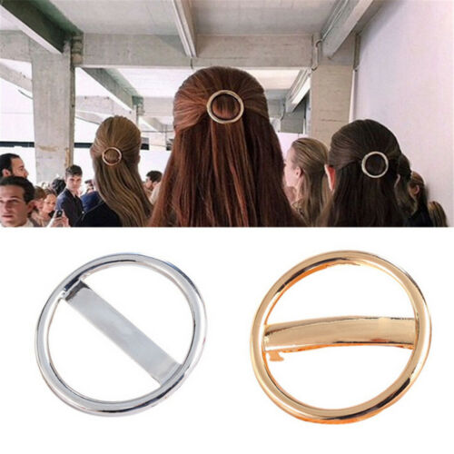 Metal Circle Spring Barrette Ladies Hair Clip Slide Hairpin Hair Accessories