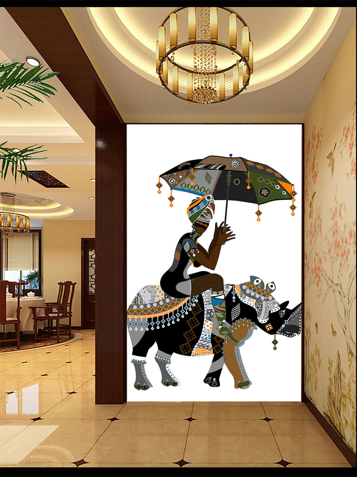 3D People And Animal  4 Wall Paper Wall Print Decal Wall Deco Indoor Mural Carly