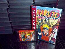 Naruto 2 for Sega Genesis! Cart and Box