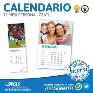 Calendario 12 Mesi.Dettagli Su Calendario 2019 12 Mesi Personalizzati Foto Immagini Regalo Calendari