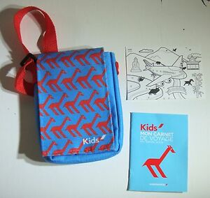 Air France Kids Travel Pouch Activity Booklet Post Card Airline Aviation