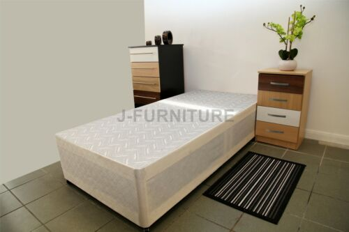 Storage Optional Single Divan Bed Base In Cream Colour 2ft6 or 3ft!