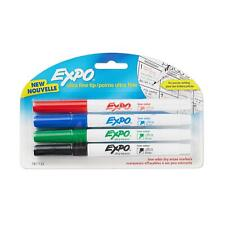 Expo Low Odor Dry Erase Markers Ultra Fine Tip Precise Writing 4 Colors