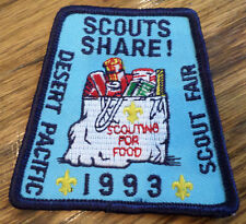 Bsa Boy Scout Uniform Scouts Share Desert Pacific Fair 1993 Food Drive