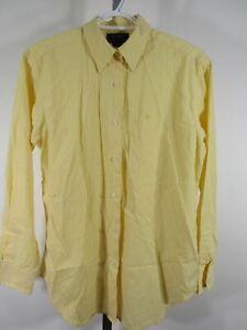 Ralph-Lauren-Blouse-Shirt-Top-Sz-8-Yellow-White-Stripes-Logo-Button-Down