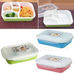 separated bento lunch box set utensils picnic food storage containers microwave ebay. Black Bedroom Furniture Sets. Home Design Ideas