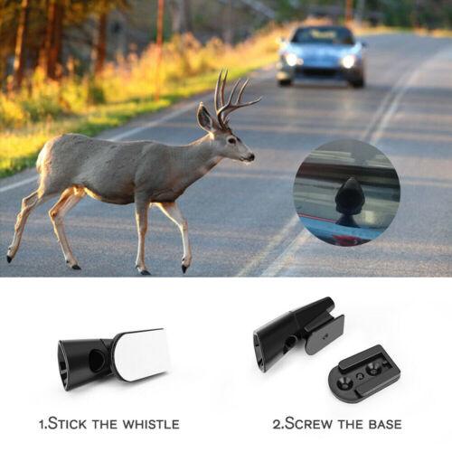 4PCS Ultrasonic Car Deer Alert Whistle Warning Animal Repeller Auto Safety Save