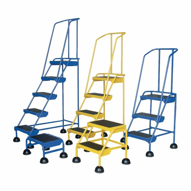Vestil Commercial Rolling Ladder - Spring Loaded 2 Steps 300-Lb Capacity LAD-2-Y