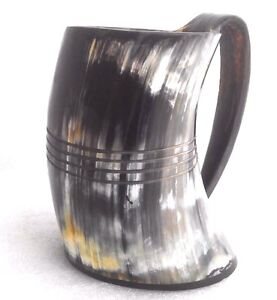 Details about Norwegian Polished 1000 ml Viking Drinking Horn Mug tankard  for beer wine mead