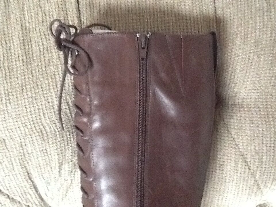 RALPH LAUREN COLLECTION MARTINA BROWN LEATHER BOOTS 6 6 6 NIB e26023