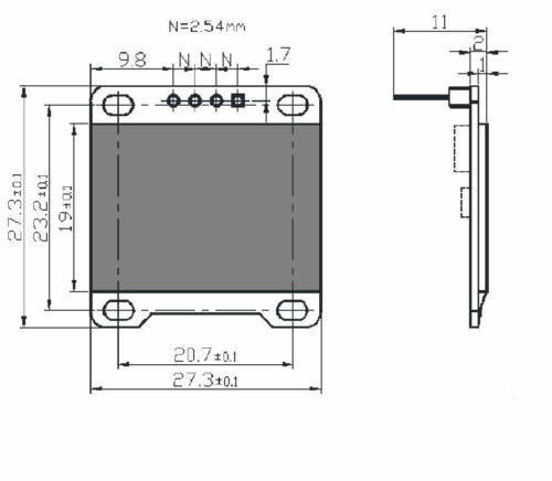 "0.96/"" I2C IIC SPI Serial 128X64 White OLED LCD LED Display Module for Arduino hc"