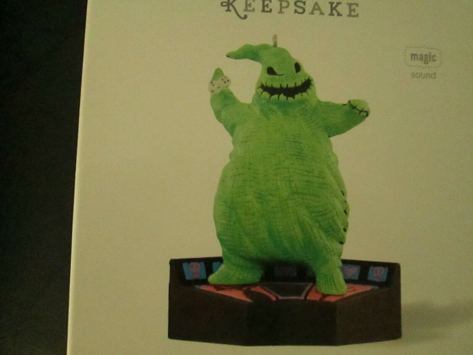 Rare Hallmark 2015 Oogie Boogie Music From Nightmare Before Christmas OrnaSiet