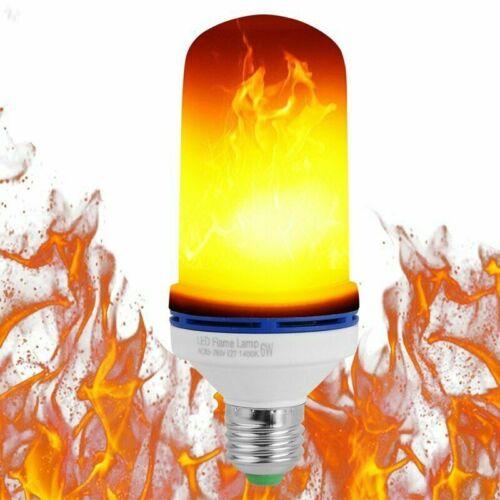 1-4 Stk E27 6W LED Licht Fackel Feuer Lampe Flammen Glühbirne Flacker Birne DHL