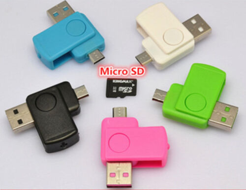 Micro SD TF Card Reader for Android Phone il 2 in 1 Micro USB 2.0 OTG Adapter