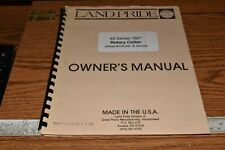 Land Pride 45 Series 180 Rotary Cutter Owners Manual Serial 124691 Amp Above