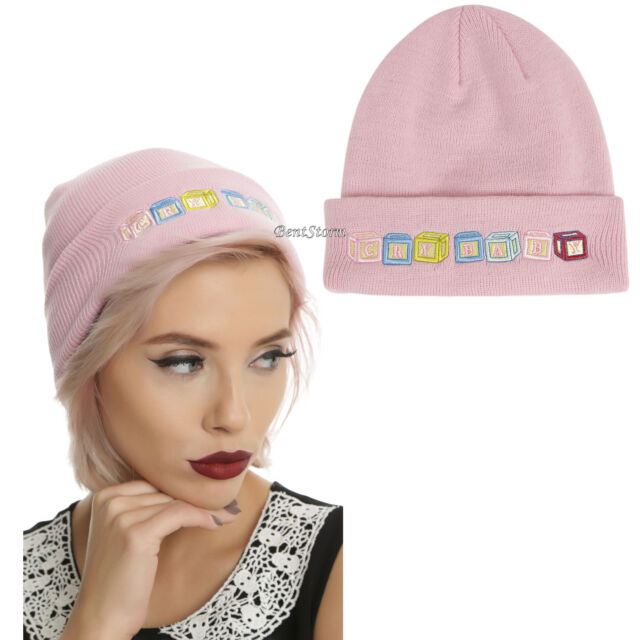 a66eba4b0 Licensed Melanie Martinez Cry Baby Beanie Blocks Pink Watchman Knit Hat Cap  NWT