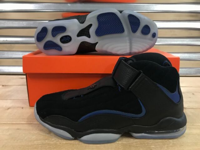 sports shoes f167e 218e5 Nike Air Penny IV 4 Basketball Shoes Black Blue Orlando Magic SZ (  864018-001