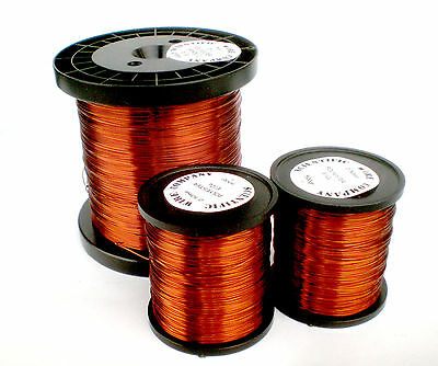 Enamelled Copper Winding Wire / Magnet Wire 125grms Full Size Range Solderable