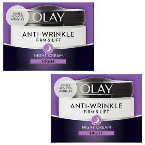2-Olay-Anti-Wrinkle-Firm-Lift-Anti-Ageing-Moisturiser-Night-Cream-Hydrating-50ml