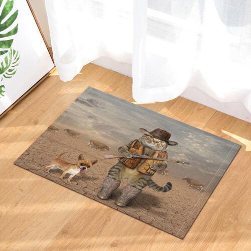 Animal Rideau de douche Chat Cowboy Salle De Bain Imperméable Polyester DECOR 71 in environ 180.34 cm