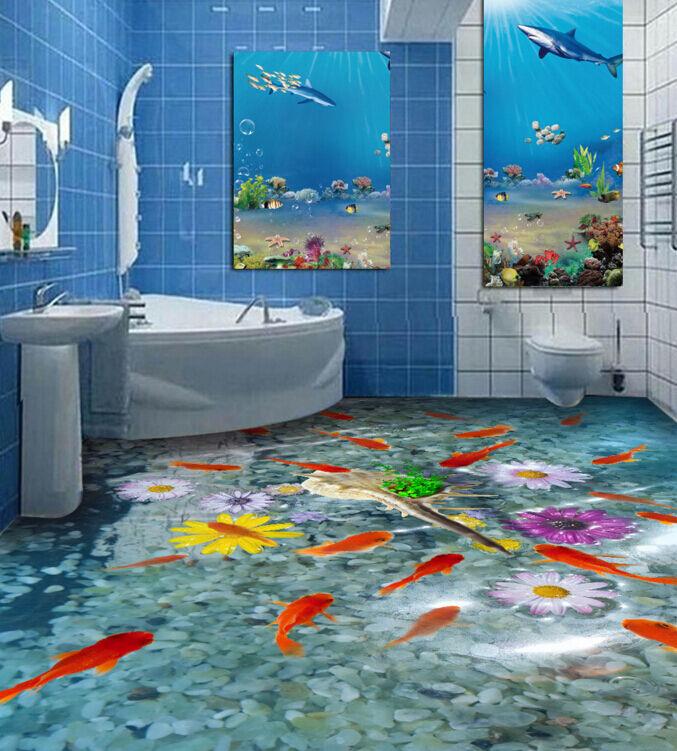 3D Goldfish 88 Fototapeten Wandbild Fototapete Tapete Familie DE Lemon
