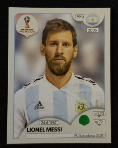 2018 PANINI FIFA WORLD CUP RUSSIA LIONEL MESSI # 276 Sticker Pink back ARGENTINA