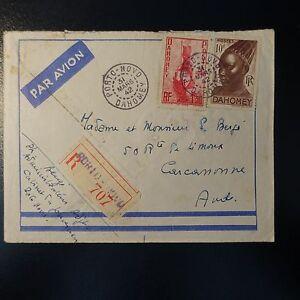 Benin Briefmarken VertrauenswüRdig Dahomey Brief Empfehlen Cover 1942 Der Schrank Der Gouverneur Porto Novo Eine GroßE Auswahl An Modellen