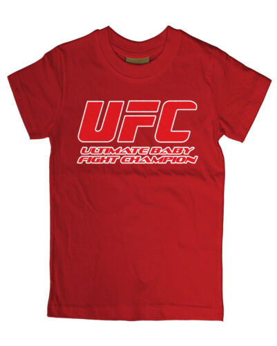 Ultimate Baby lucha Campeón Ufc Bebé T Shirt Meses Boxeo Tee Hipster
