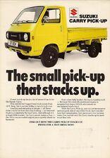 Suzuki Carry ST 80K Pick-Up 1979-80 UK Market Leaflet Sales Brochure