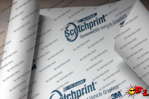 """ft. 3M Scotchprint Matte White Wrap Film 18/""""x24/"""" 3 sq"""